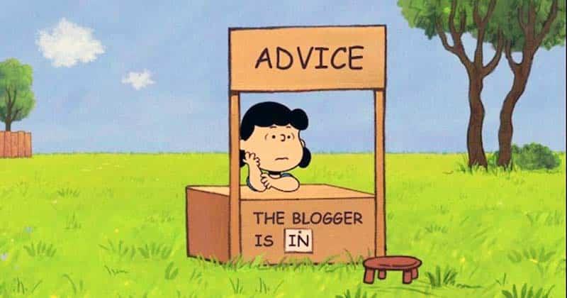 Free advice stand